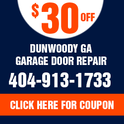 Dunwoody GA Garage Door repair Offer